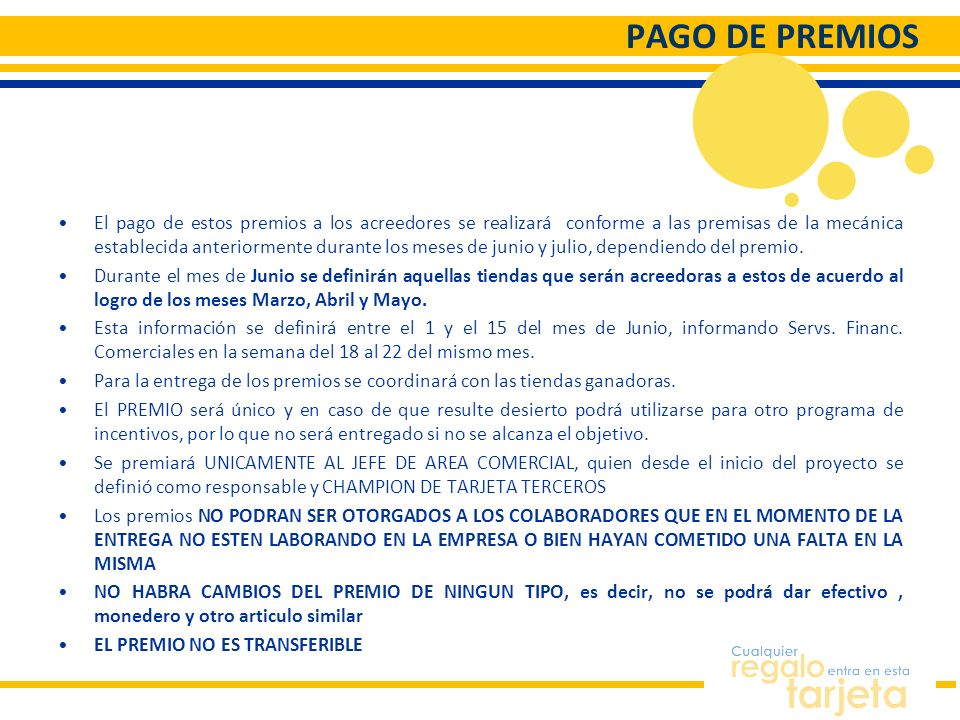 PAGO DE PREMIOS