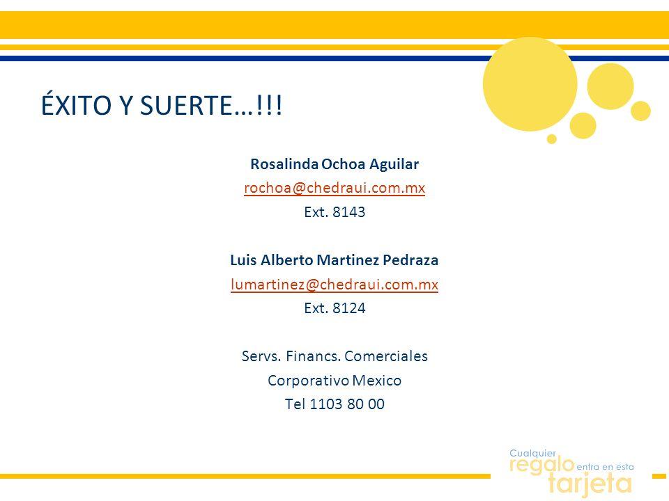 Rosalinda Ochoa Aguilar Luis Alberto Martinez Pedraza