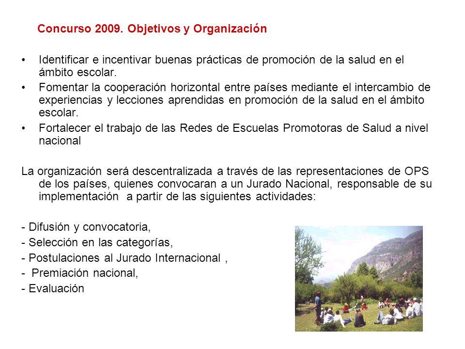 Concurso 2009. Objetivos y Organización