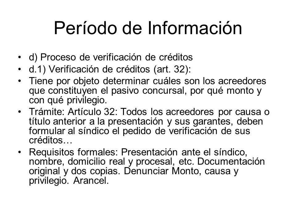 Período de Información