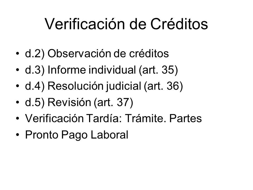 Verificación de Créditos