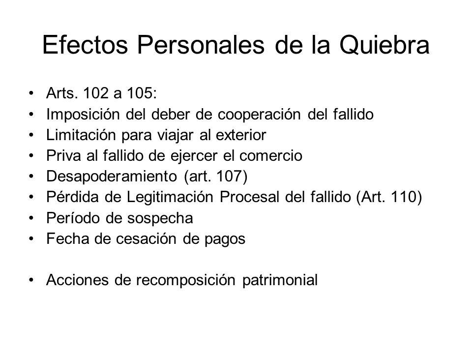 Efectos Personales de la Quiebra