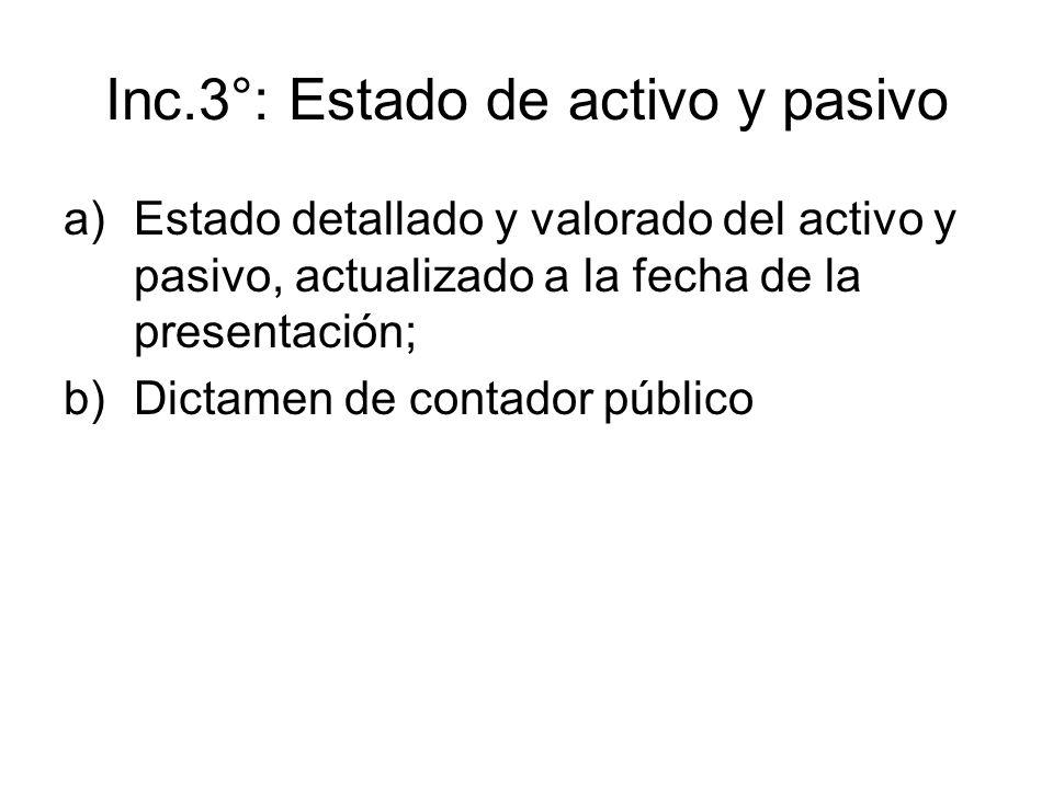 Inc.3°: Estado de activo y pasivo