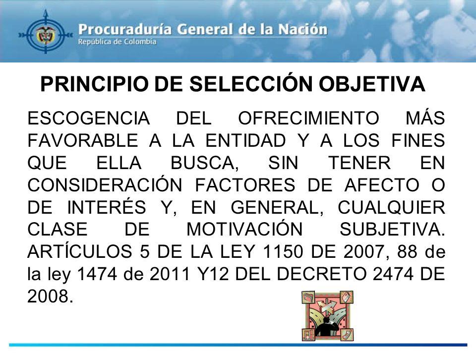 PRINCIPIO DE SELECCIÓN OBJETIVA