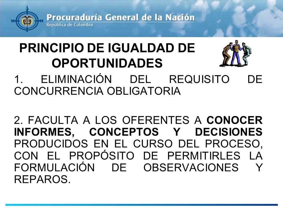 PRINCIPIO DE IGUALDAD DE OPORTUNIDADES