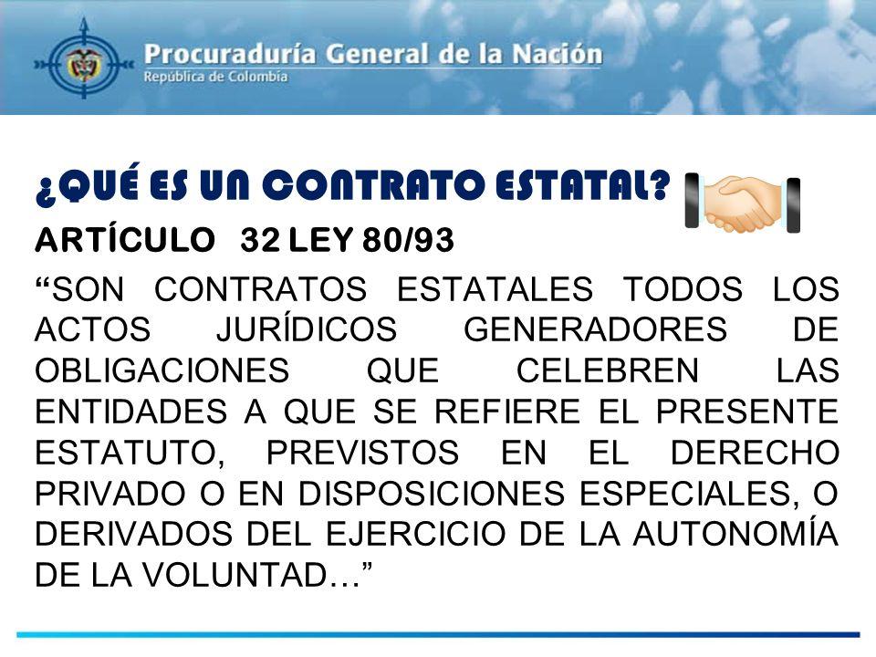 PLANEACIÓN ¿QUÉ ES UN CONTRATO ESTATAL ARTÍCULO 32 LEY 80/93