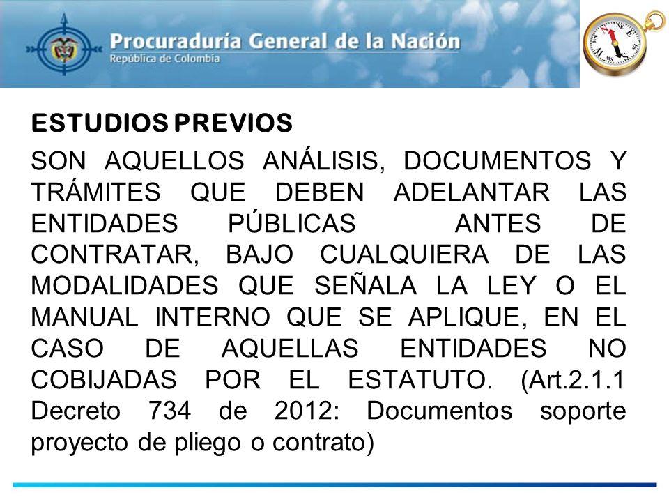 ESTUDIOS PREVIOS ESTUDIOS PREVIOS