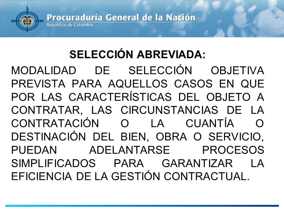 ESTUDIOS PREVIOS SELECCIÓN ABREVIADA: