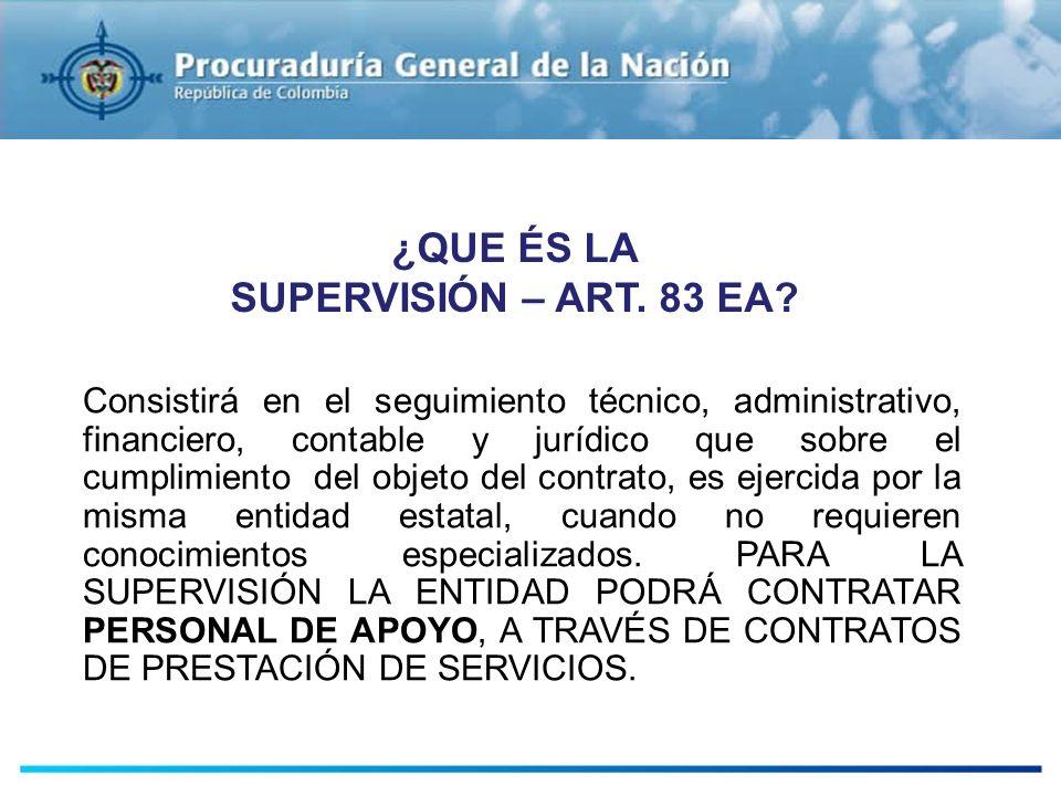¿QUE ÉS LA SUPERVISIÓN – ART. 83 EA