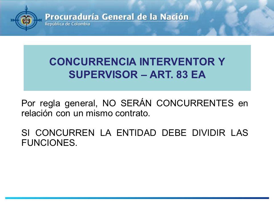 CONCURRENCIA INTERVENTOR Y SUPERVISOR – ART. 83 EA
