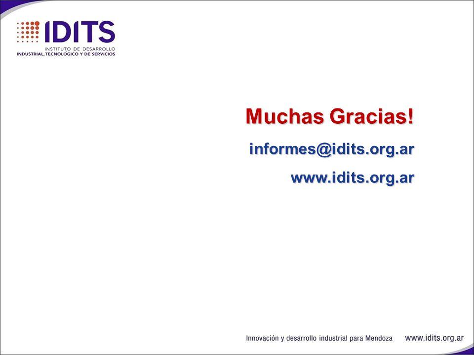 Muchas Gracias! informes@idits.org.ar