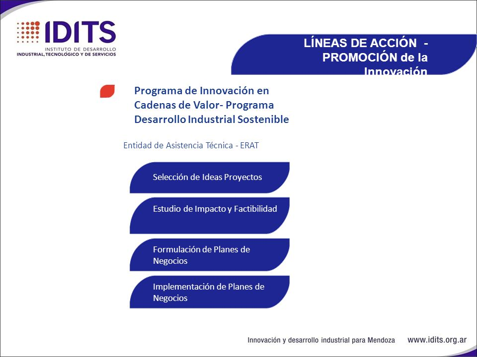 LÍNEAS DE ACCIÓN -PROMOCIÓN de la Innovación