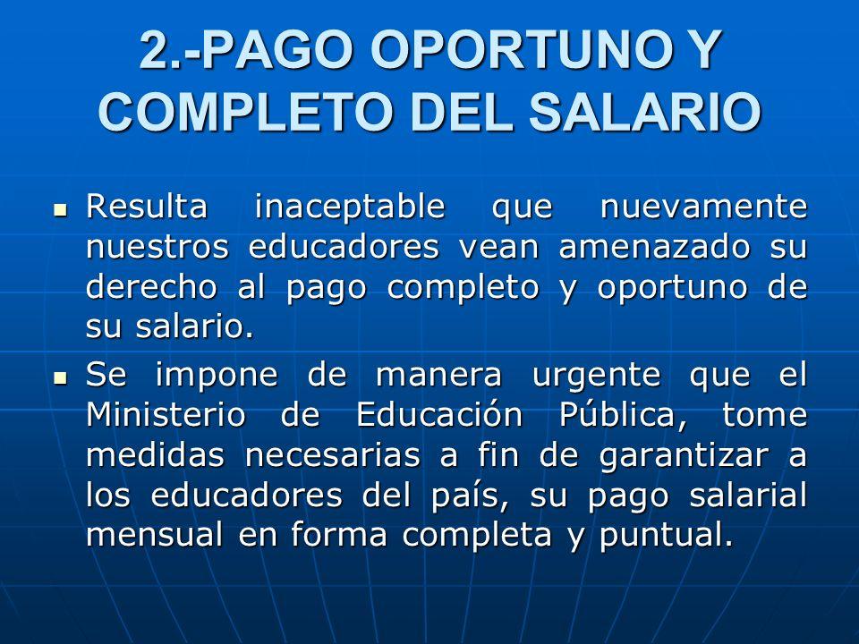 2.-PAGO OPORTUNO Y COMPLETO DEL SALARIO