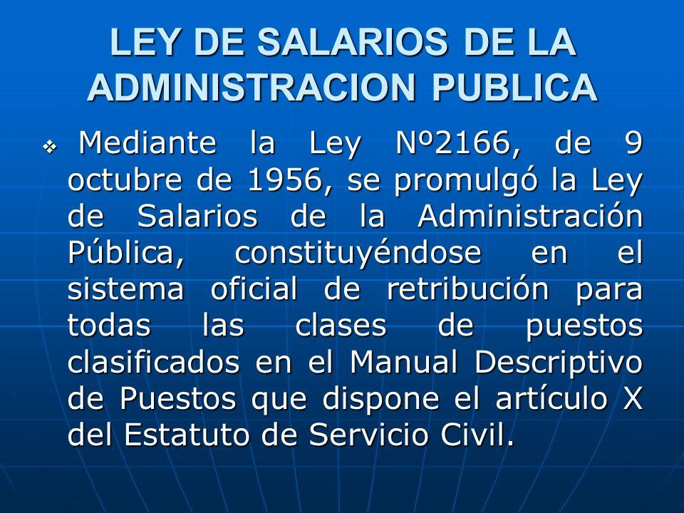 LEY DE SALARIOS DE LA ADMINISTRACION PUBLICA