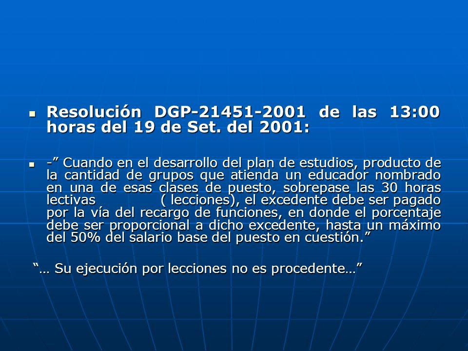 Resolución DGP-21451-2001 de las 13:00 horas del 19 de Set. del 2001: