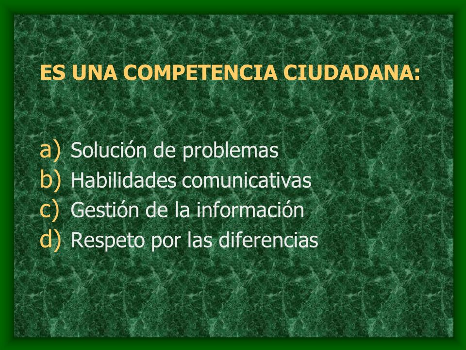 ES UNA COMPETENCIA CIUDADANA: