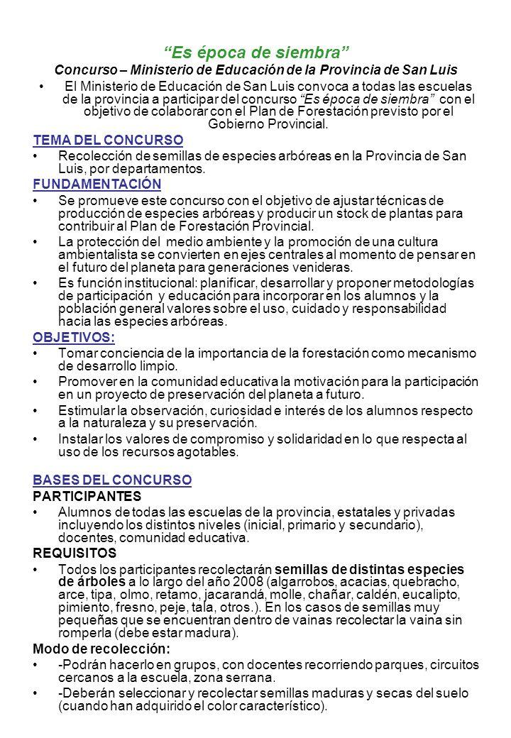 Concurso – Ministerio de Educación de la Provincia de San Luis