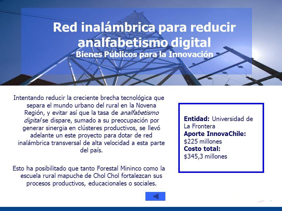 Red inalámbrica para reducir analfabetismo digital Bienes Públicos para la Innovación