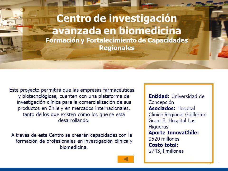 Centro de investigación avanzada en biomedicina Formación y Fortalecimiento de Capacidades Regionales