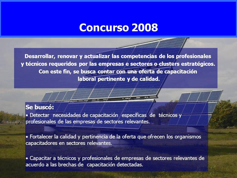 Concurso 2008 Desarrollar, renovar y actualizar las competencias de los profesionales.