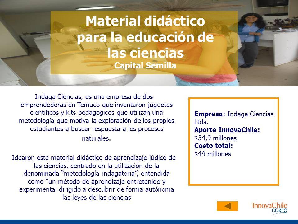 Material didáctico para la educación de las ciencias Capital Semilla