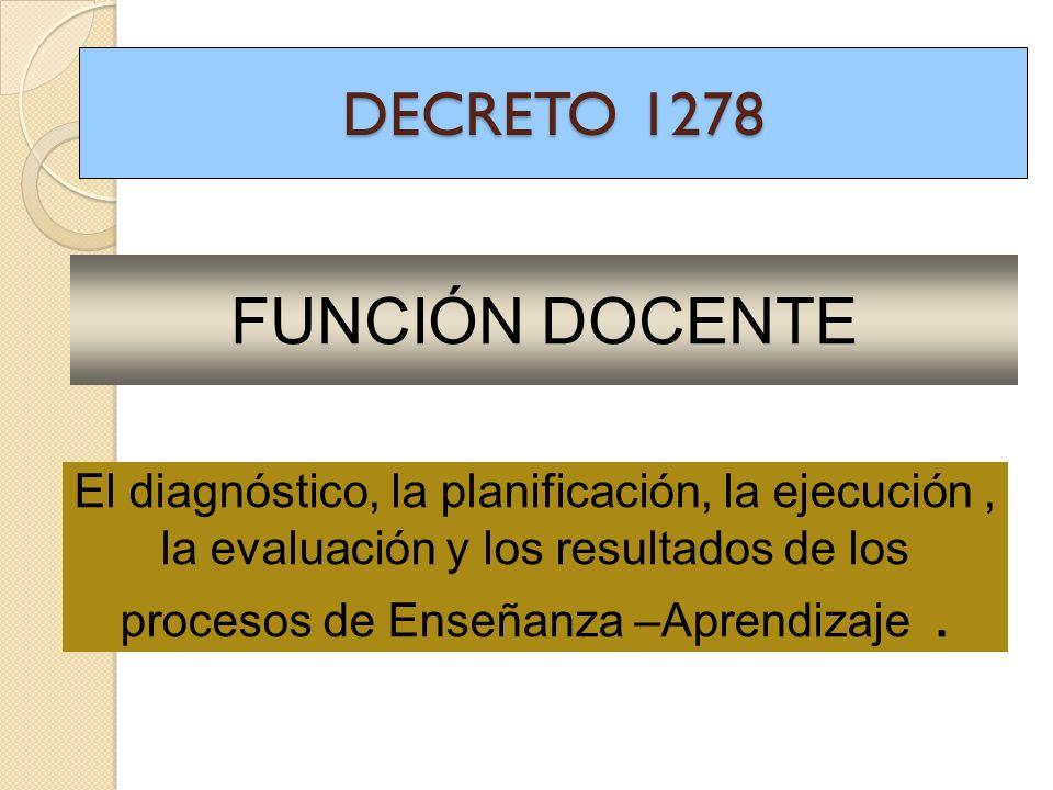 FUNCIÓN DOCENTE DECRETO 1278