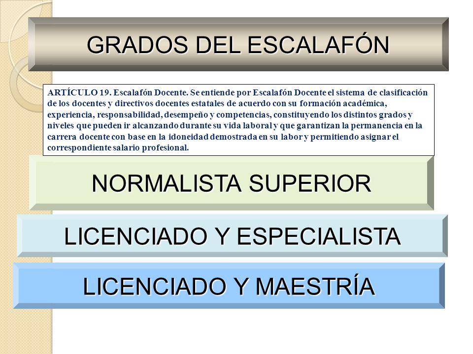 LICENCIADO Y ESPECIALISTA