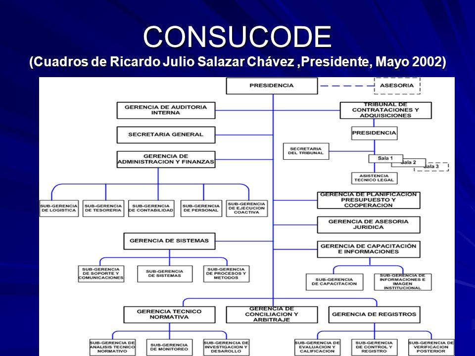 CONSUCODE (Cuadros de Ricardo Julio Salazar Chávez ,Presidente, Mayo 2002)