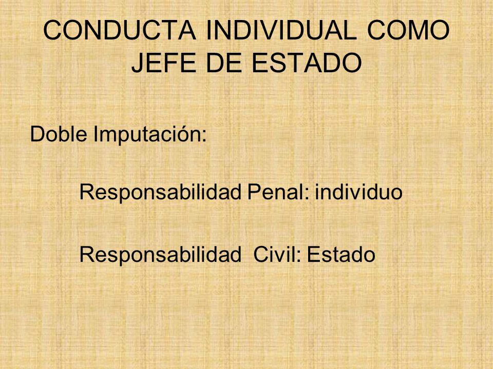 CONDUCTA INDIVIDUAL COMO JEFE DE ESTADO