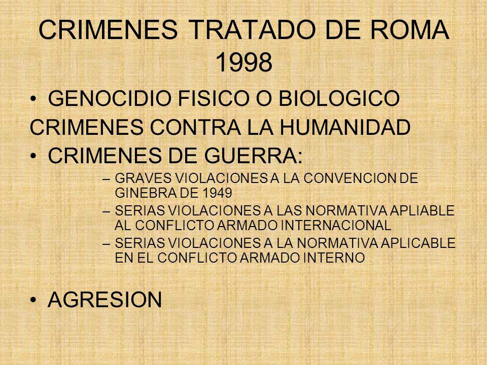 CRIMENES TRATADO DE ROMA 1998