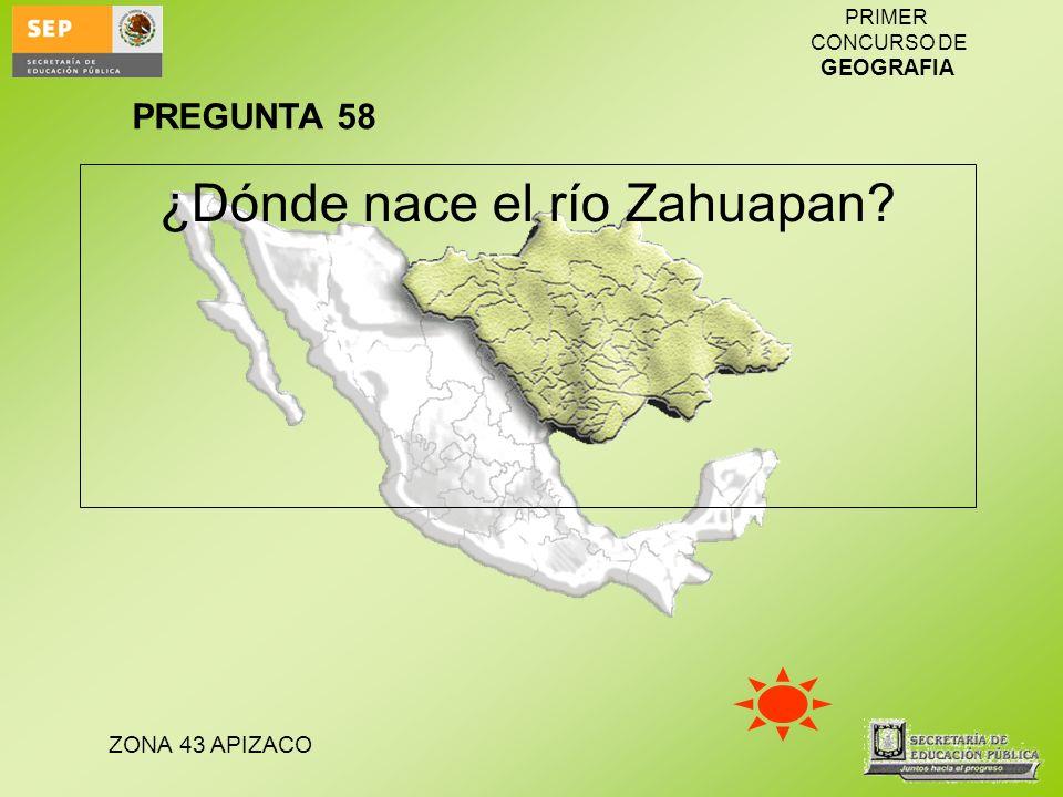 ¿Dónde nace el río Zahuapan