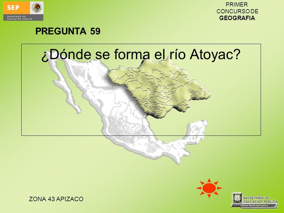 ¿Dónde se forma el río Atoyac