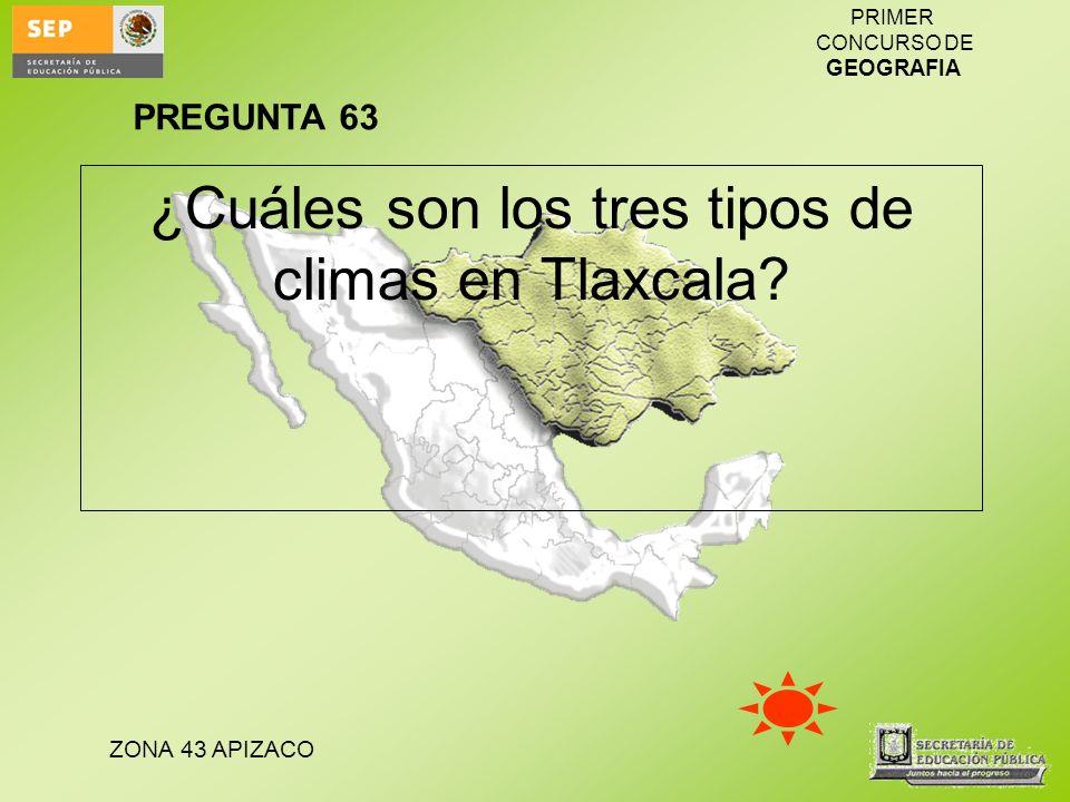 ¿Cuáles son los tres tipos de climas en Tlaxcala