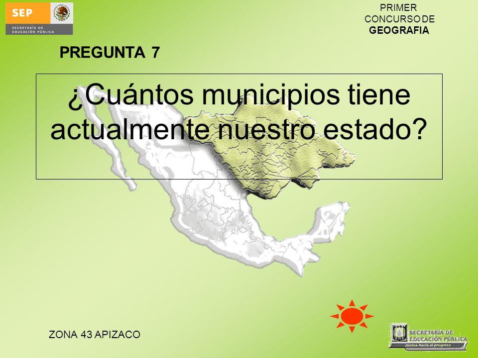 ¿Cuántos municipios tiene actualmente nuestro estado