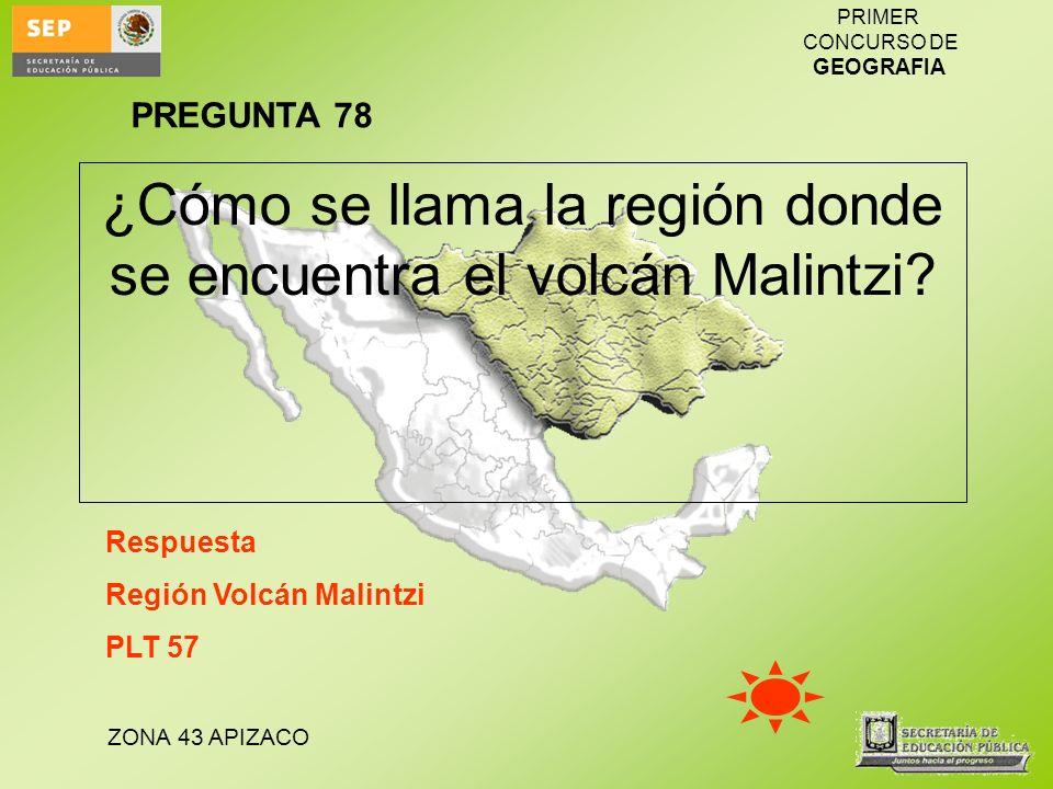 ¿Cómo se llama la región donde se encuentra el volcán Malintzi