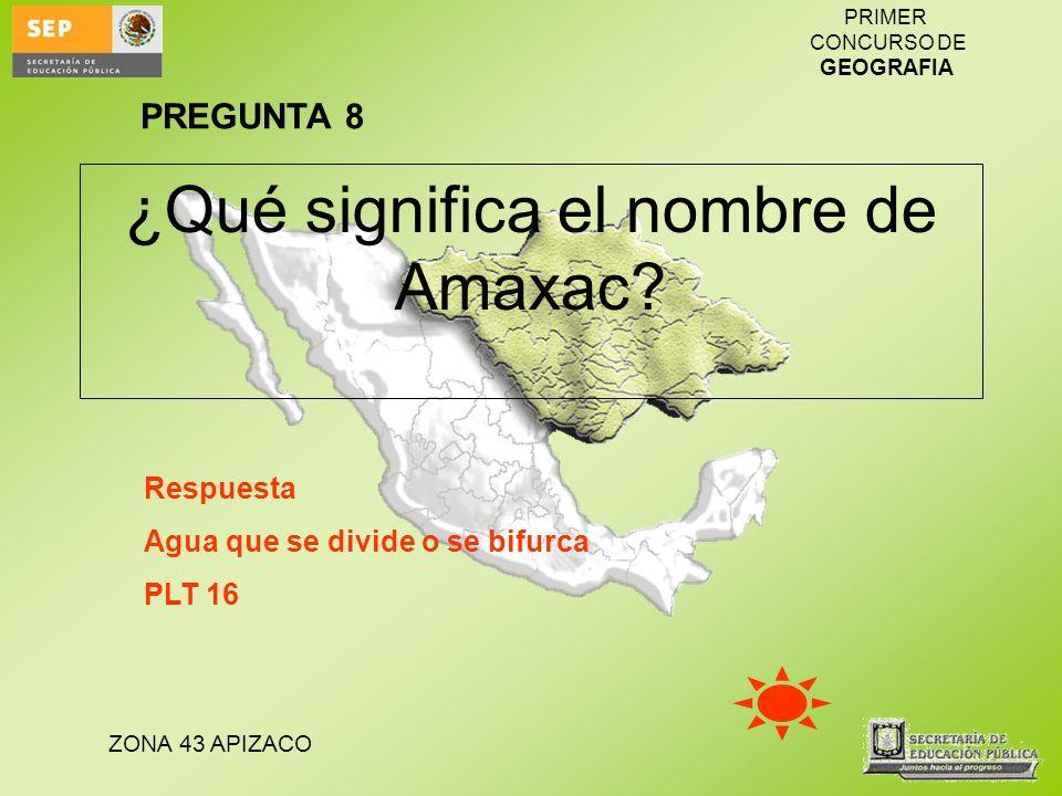 ¿Qué significa el nombre de Amaxac