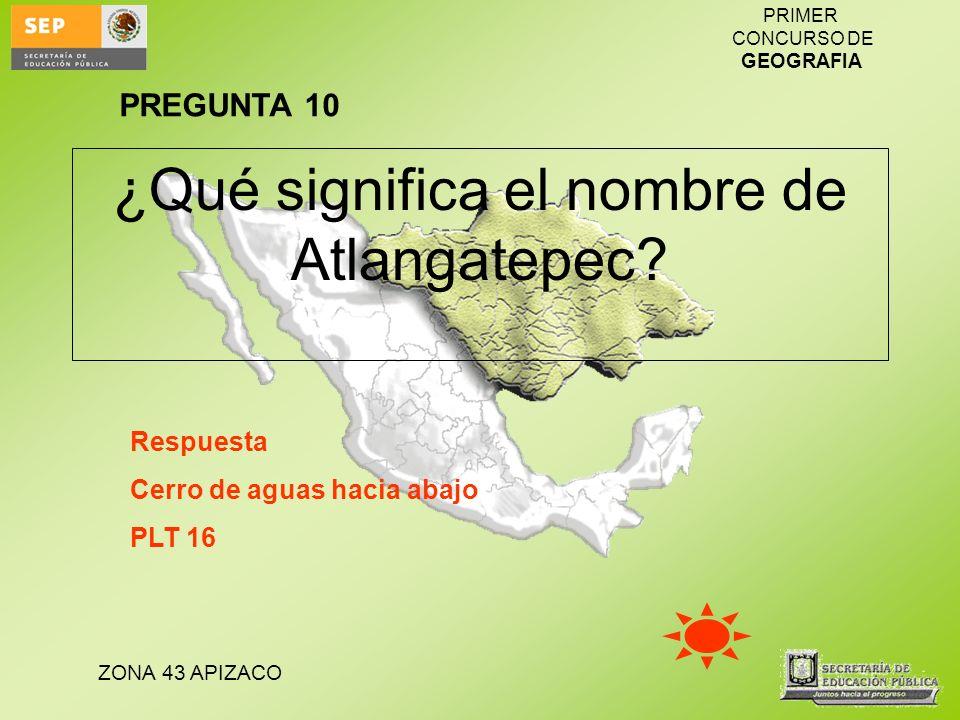 ¿Qué significa el nombre de Atlangatepec