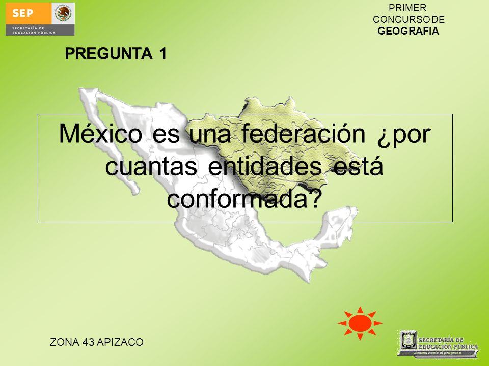 México es una federación ¿por cuantas entidades está conformada
