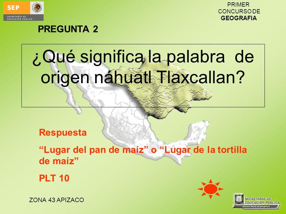 ¿Qué significa la palabra de origen náhuatl Tlaxcallan