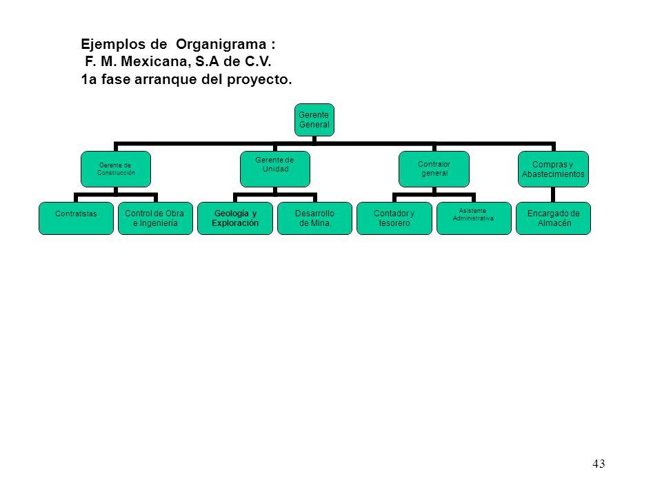Ejemplos de Organigrama :