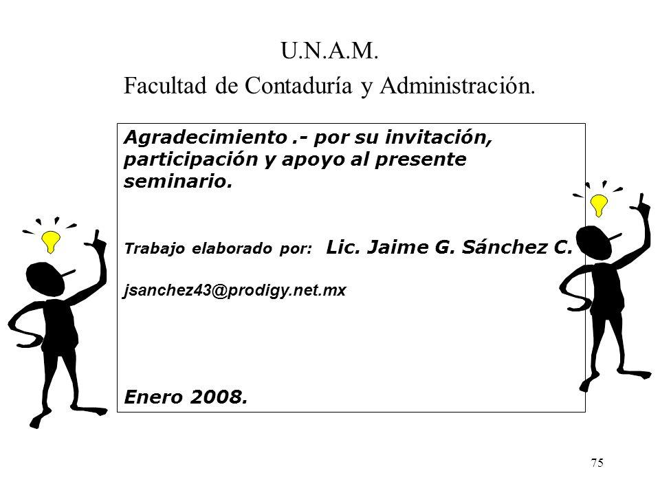 U.N.A.M. Facultad de Contaduría y Administración.