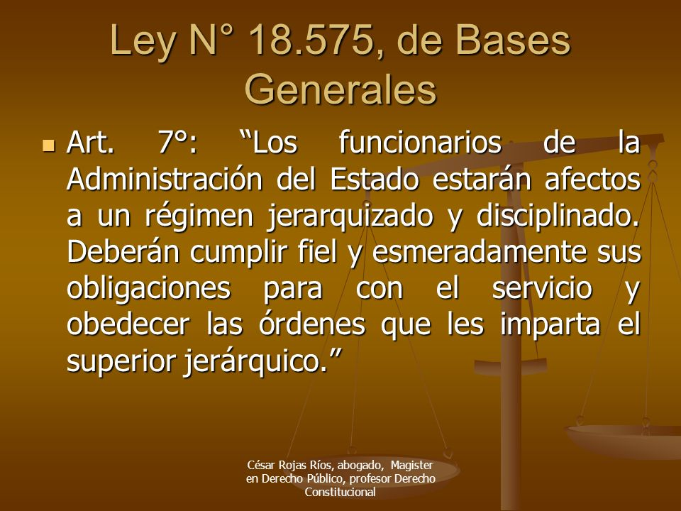 Ley N° 18.575, de Bases Generales