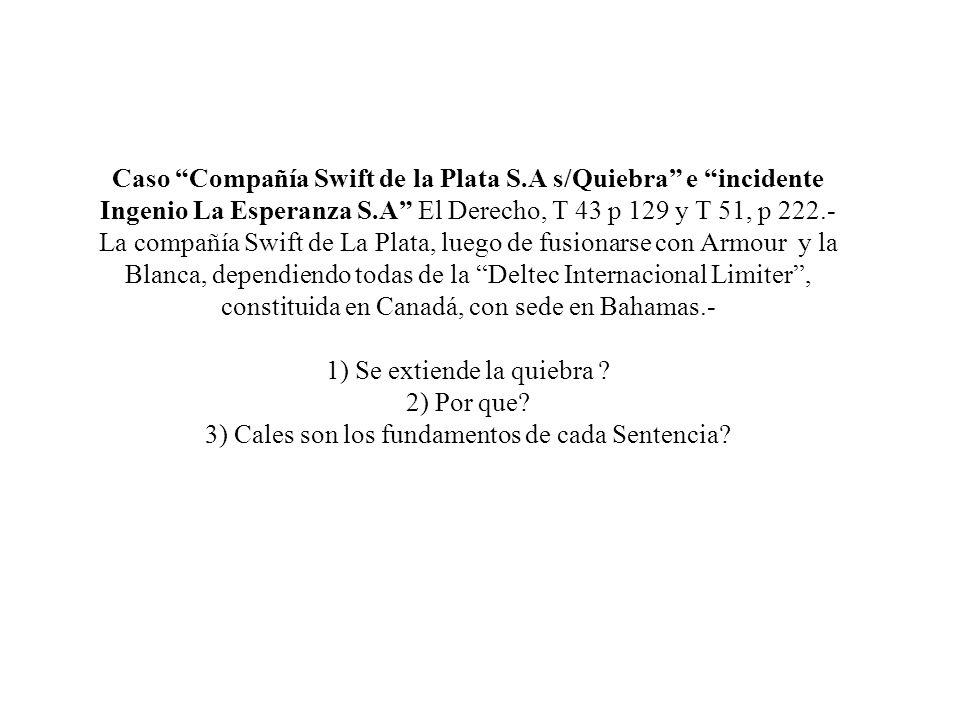 Caso Compañía Swift de la Plata S