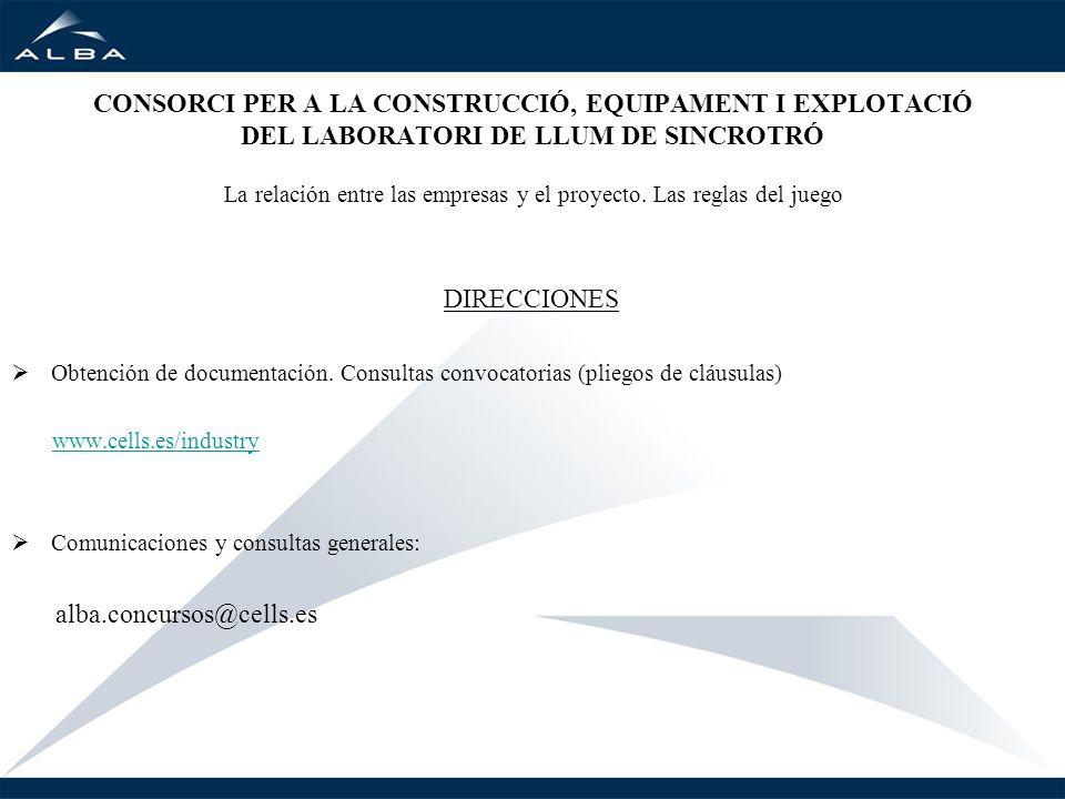 CONSORCI PER A LA CONSTRUCCIÓ, EQUIPAMENT I EXPLOTACIÓ DEL LABORATORI DE LLUM DE SINCROTRÓ