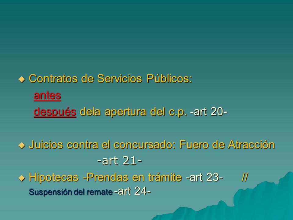 Contratos de Servicios Públicos:
