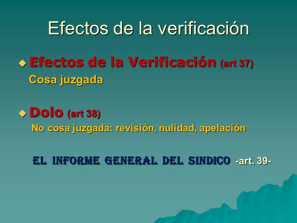 Efectos de la verificación