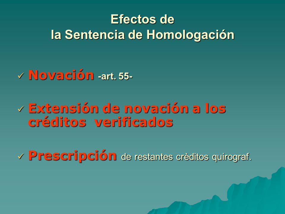 Efectos de la Sentencia de Homologación