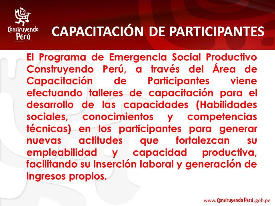 CAPACITACIÓN DE PARTICIPANTES
