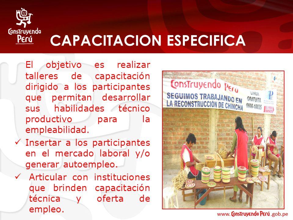 CAPACITACION ESPECIFICA