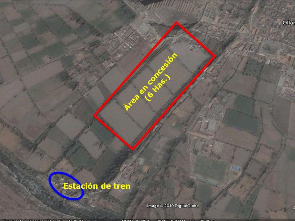 Área en concesión (6 Has.) Estación de tren